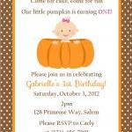 Pumpkin Birthday Invitation - Print..