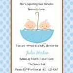 Twin Baby Shower Invitation