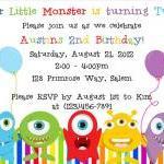 Little Monster Birthday Invitation ..