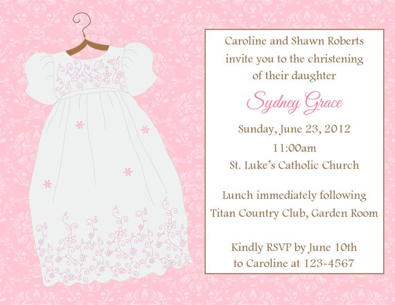 BaptismChristening Invitation Printable File on Luulla