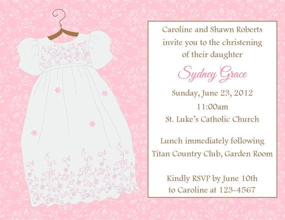 Baptism Christening Invitation Printable File On Luulla