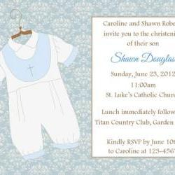 Baptism/Christening Invitation (Boy) - Printable File