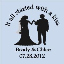 Hershey Kiss Stickers - Wedding Favors
